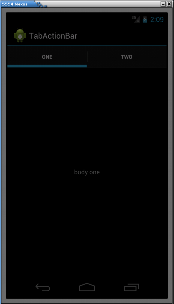 Tab Layout in Android with ActionBar and FragmentTab Layout